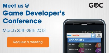 Meet us at GDC 2013